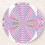 Espiral elegante del ROSA del diamante Posavasos Personalizados