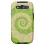 Espiral en rosa y verdes galaxy s3 cárcasa