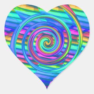 Espiral estupendo del arco iris de la turquesa con
