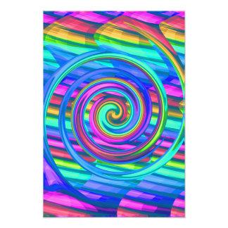 Espiral estupendo del arco iris de la turquesa con arte fotográfico