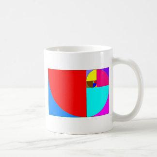 espiral fibonacci classic white coffee mug