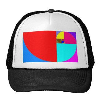 espiral fibonacci hats
