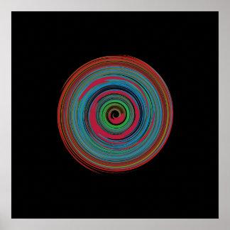 espiral hipnótico para las paredes póster