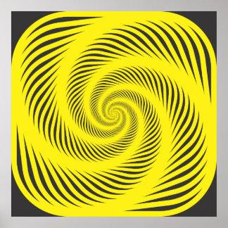 Espiral hipnótico póster