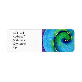 Espiral II Etiqueta De Remite