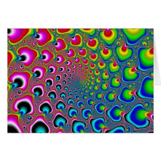 Espiral inverso tarjeta de felicitación