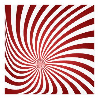 Espiral marrón asimétrico impresion fotografica