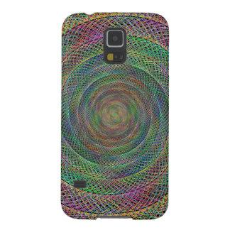 Espiral multicolor del fractal carcasa galaxy s5