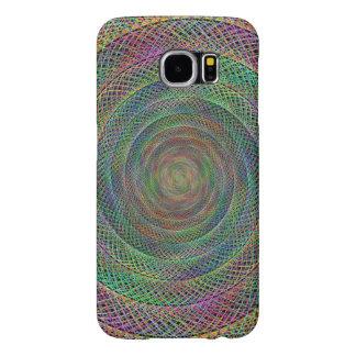 Espiral multicolor del fractal funda samsung galaxy s6