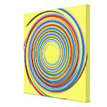 Espiral multicolor lona envuelta para galerías