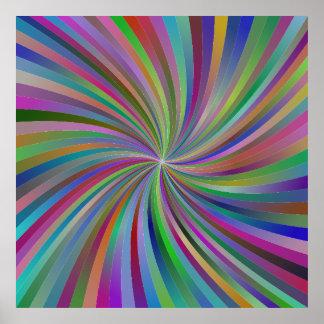 Espiral multicolor póster