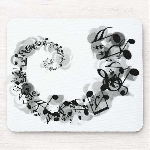 Espiral musical alfombrillas de raton