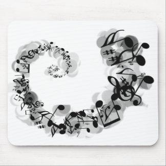Espiral musical tapete de ratones