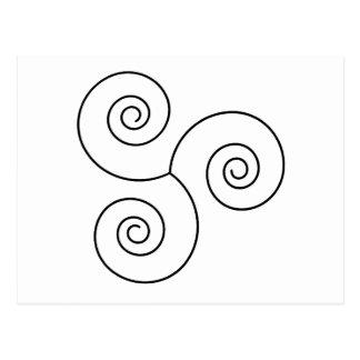 Espiral negro/blanco de la vida postales