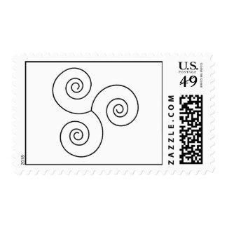 Espiral negro/blanco de la vida sellos postales