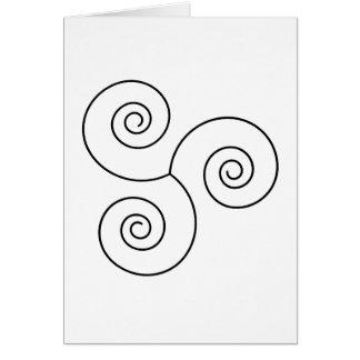 Espiral negro/blanco de la vida tarjeta de felicitación