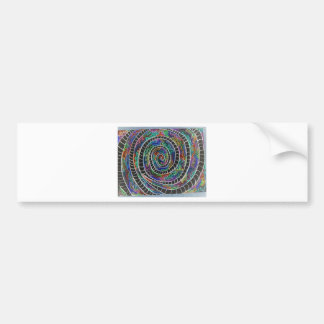 Espiral negro etiqueta de parachoque