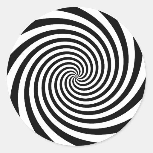 Espiral negro etiquetas redondas