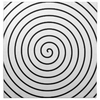 Espiral negro servilletas de papel