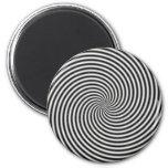 Espiral negro y blanco de la ilusión óptica imán