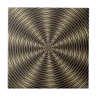 Espiral negro y marrón azulejo cuadrado pequeño