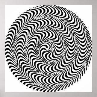 Espiral óptico plausible del bloque impresiones