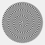 Espiral óptico plausible del bloque pegatina redonda
