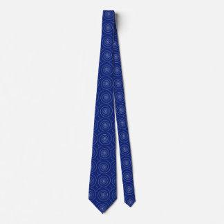 Espiral para el pi en azules marinos corbatas