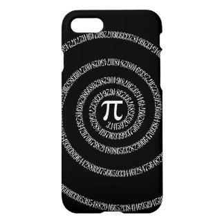 Espiral para el pi en negro sólido funda para iPhone 7