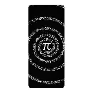 """Espiral para el pi en negro sólido invitación 4"""" x 9.25"""""""