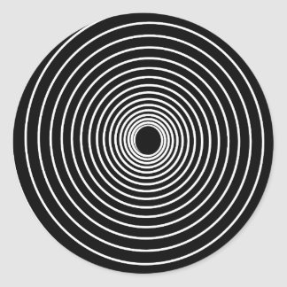 Espiral Pegatina Redonda