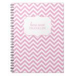 Espiral personalizado Chevron dulce rosado Cuaderno