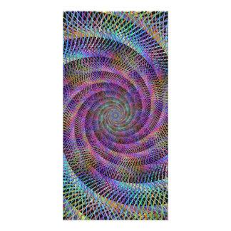 Espiral Plantilla Para Tarjeta De Foto