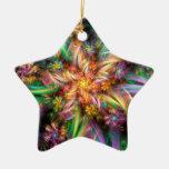 Espiral plástico de la flor adorno navideño de cerámica en forma de estrella