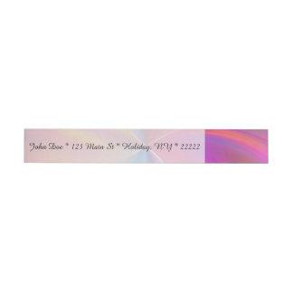 Espiral plumoso del arco iris etiquetas envolventes de dirección