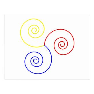 Espiral primario de la vida tarjetas postales