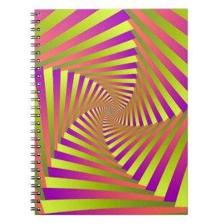 Espiral psicodélico de cinco brazos cuaderno