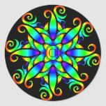 Espiral psicodélico de la esfera pegatinas redondas