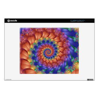Espiral psicodélico del arco iris skins para 30,5cm portátil