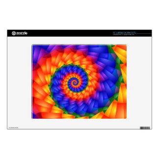 Espiral psicodélico del arco iris skins para portátil