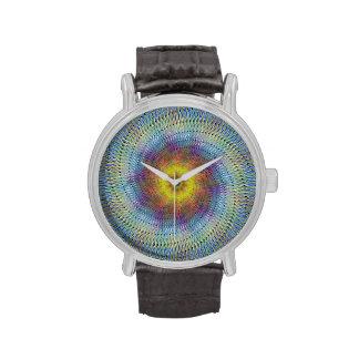 Espiral psicodélico reloj de mano