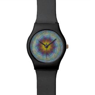 Espiral psicodélico relojes de pulsera