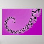 Espiral púrpura de Mandelbrot Póster