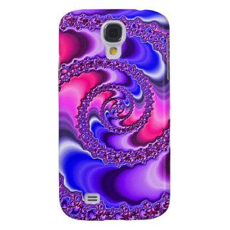 Espiral púrpura samsung galaxy s4 cover