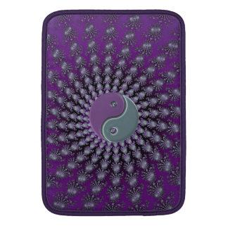 Espiral púrpura Yin Yang del fractal de la Funda Macbook Air