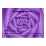 Espiral rechoncho de la violeta de la tarjeta de tarjetas de visita grandes