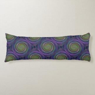 Espiral reticulado psicodélico cojin cama