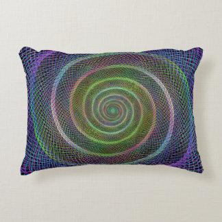 Espiral reticulado psicodélico cojín decorativo