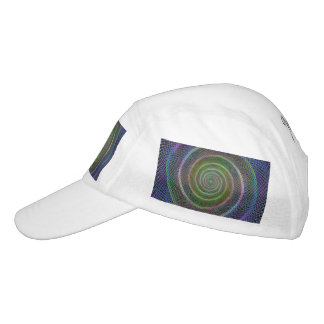 Espiral reticulado psicodélico gorra de alto rendimiento