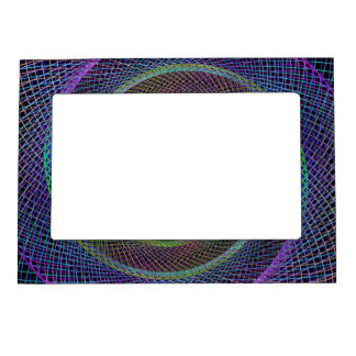 Espiral reticulado psicodélico marcos magneticos